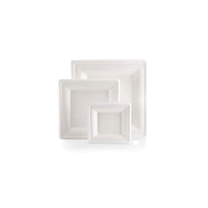 Plato Fibra Carree color blanco 200x200mm 250u. Bio Line