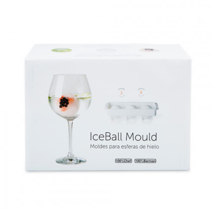 Ice Ball Mould 3D Retail Box Ø60mm (24x7x7mm), 100%Chef