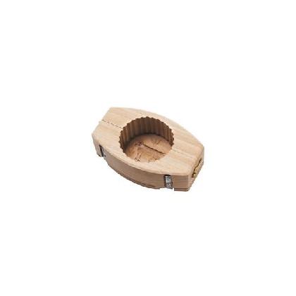 Molde oval estriado 80gr para mantequilla - decoración flor