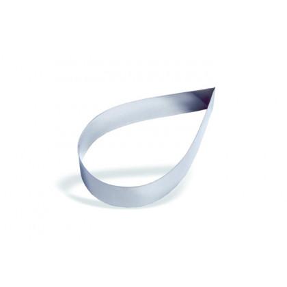 Molde forma gota de acero inoxidable 14cm (h4,5cm), Pujadas