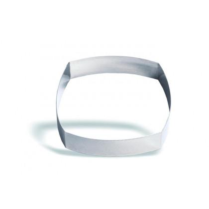 Molde cuadrado bombeado de acero inoxidable 10cm (h4,5cm), Pujadas