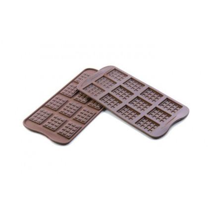 Molde de silicona SCG11 Tableta 38x28h4,5mm (12 porciones) EasyChoc, Silikomart