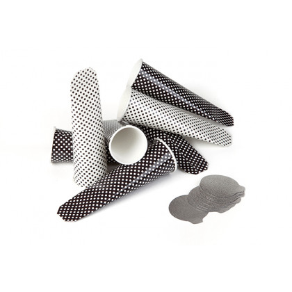 Kalippo negro 70ml con tapa termosellable - 100 unidades, 100%Chef
