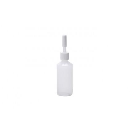 Mini biberón desechable con tapón 25ml (Ø25xh95mm) - 50 unidades, 100%Chef