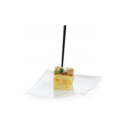 Pincho degustación Hola negro (83mm) - 1000 unidades, 100%Chef