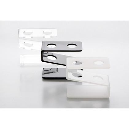 Gradilla de metacrilato para 2 tubos transparente (6x8x4cm), 100%Chef