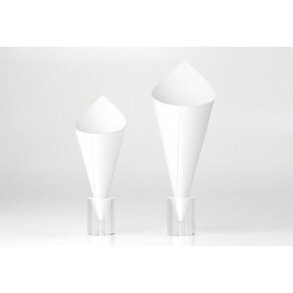 Cono Blanco Cartón XL (Ø9xh16-10,5cm) - 100 unidades, 100%Chef