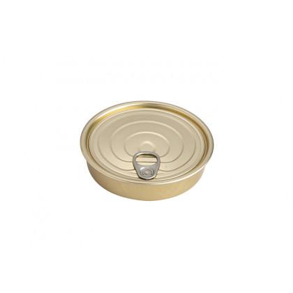 Lata hojalata redonda XS con tapa 120ml (Ø120x22mm) - 100 unidades, 100%Chef