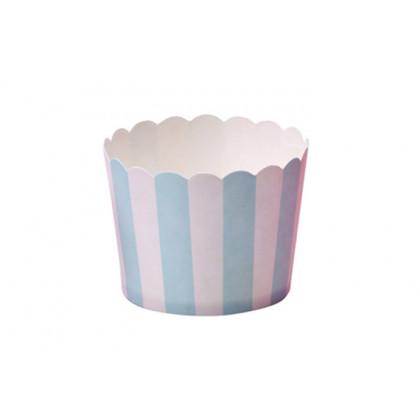 Caja helado mini azul (Ø50x45mm) - 100 unidades, 100%Chef