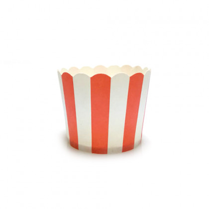 Caja helado mini roja (Ø50x45mm) - 100 unidades, 100%Chef