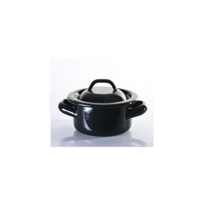 Cacerola negra M 500ml, Retro Miniatures (Ø12x6mm) - 6 unidades, 100%Chef