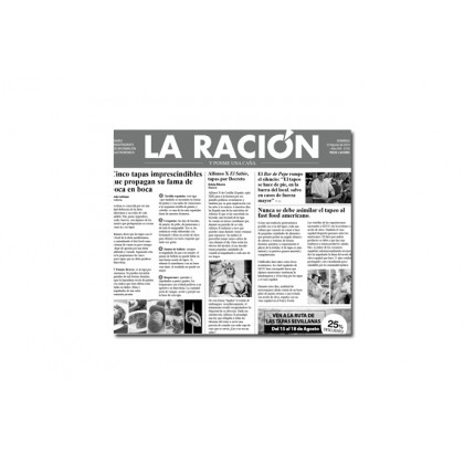 Papel de periodico La Ración (300x290mm) - 500 unidades, 100%Chef