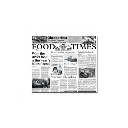 Papel de periodico Food Times (300x290mm) - 500 unidades, 100%Chef