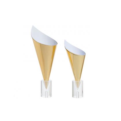 Conos de cartón color oro XL (Ø90x160/105mm) - 100 unidades, 100%Chef