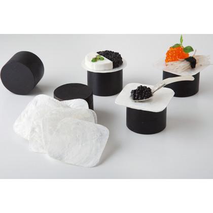 Plato nácar cuadrado (50x50mm) - 100 unidades, 100%Chef