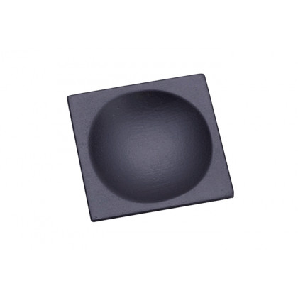 Plato cuadrado lacado negro mate (60x60mm) - 10 unidades, 100%Chef