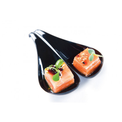 Cuchara degustación Sphera negra (119mm) - 200 unidades, 100%Chef