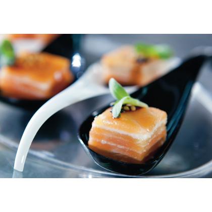 Cuchara degustación Sphera transparente (119mm) - 200 unidades, 100%Chef