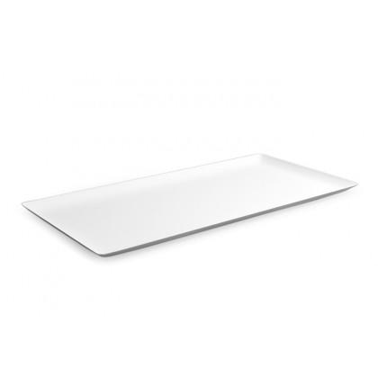 Bandeja rectangular degustación Hola blanca (480x240xh17mm) - 6 unidades, 100%Chef