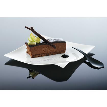 Plato llano degustación Hola blanco (127x127x15mm) - 100 unidades, 100%Chef