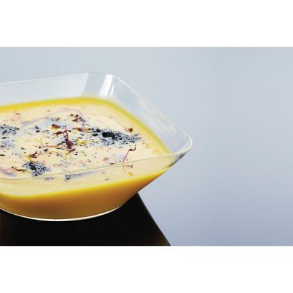Plato hondo degustación Hola transparente 25cl (107x107x35mm) - 80 unidades, 100%Chef