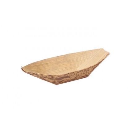 Barquita grande de bambú (95x60x15mm) - 100 unidades, 100%Chef