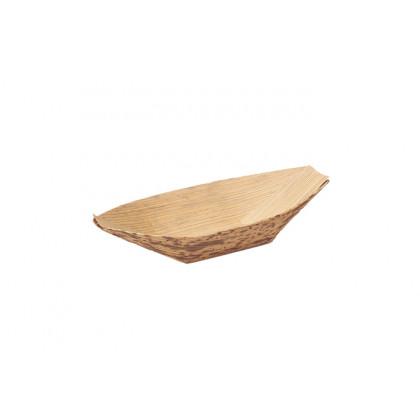 Barquita pequeña de bambú (75x40x10mm) - 100 unidades, 100%Chef