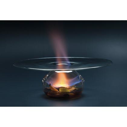Vulcano, plato con fuego XS (Ø23xh8cm), 100%Chef