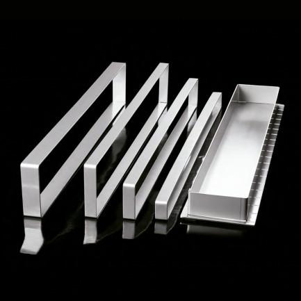 Aro rectangular de acero inoxidable X13 (577x30h20mm) Adaptable, Pavoni