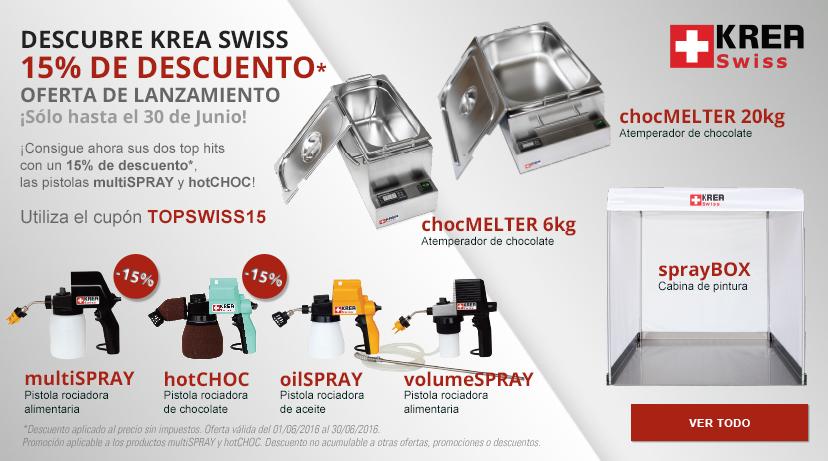 Krea Swiss con un 15% de descuento