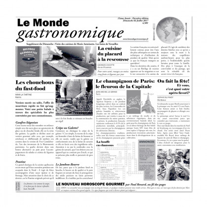 Papel de periódico Le Monde Gastronomique (29x30cm), 100%Chef - 500 unidades