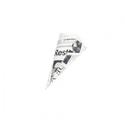 Cucurucho papel de periódico S (15x14,5x19,5cm), 100%Chef - 200 unidades