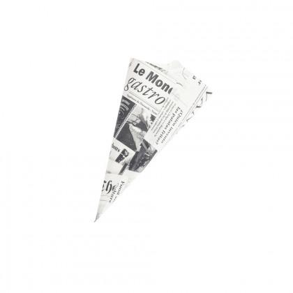 Cucurucho papel de periódico M (21x20,5x28cm), 100%Chef - 200 unidades