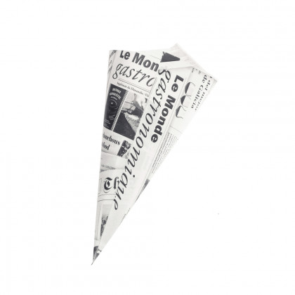 Cucurucho papel de periódico L (25x24,5x34cm), 100%Chef - 200 unidades