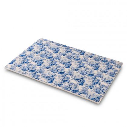Plato impreso Flores Azules (30x21x2cm), 100%Chef