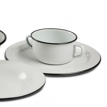 Plato Clásico Bianco&Nero (Ø28x1cm), 100%Chef - 4 unidades