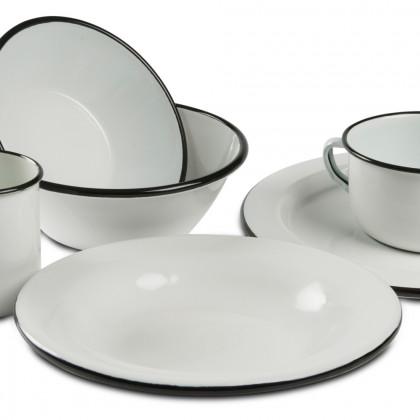 Plato Hondo Bianco&Nero (350ml), 100%Chef - 6 unidades