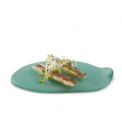Plato Cadaqués Verde XL (22x14x2cm), 100%Chef - 2 unidades