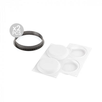 Kit molde para tarta redondo ø120mm, Silikomart