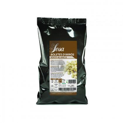 Bolitas de Arroz recubiertas de Chocolate Blanco (1kg), Sosa