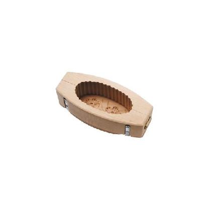 Molde oval estriado 250gr para mantequilla - decoración flor