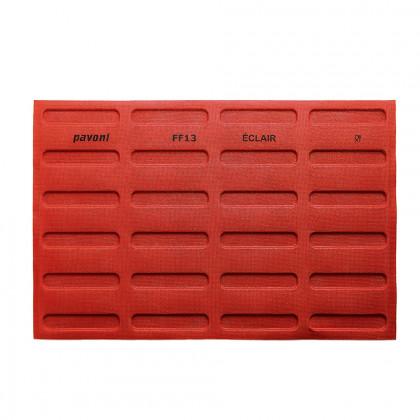 Tapete de Silicona Microperforado FF13 Éclair 125x25h5mm (24 porciones) Formasil, Pavoni