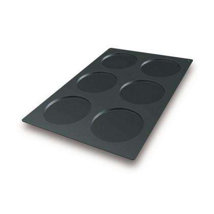 Molde de silicona SQ012 Disco Ø160xh10mm (6 porciones) SessantaQuaranta, Silikomart