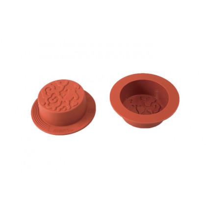 Molde de silicona SFT827 Mooncake Nature (Ø60h32mm) UniFlex, Silikomart