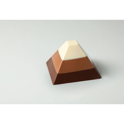 Molde de silicona PX004 Piramide 70x70h45mm (35 porciones) Pavoflex Monoporzioni, Pavoni