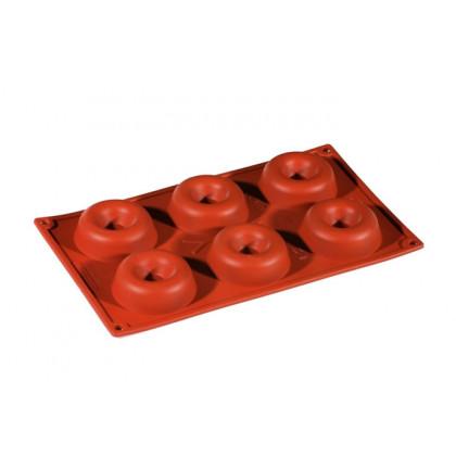 Molde de silicona FR015 Savarin Ø72h23mm (6 porciones) Formaflex Multiportion, Pavoni
