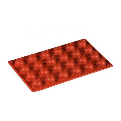 Molde de silicona FR004 Semiesfera Ø30h17mm (24 porciones) Formaflex Multiportion, Pavoni