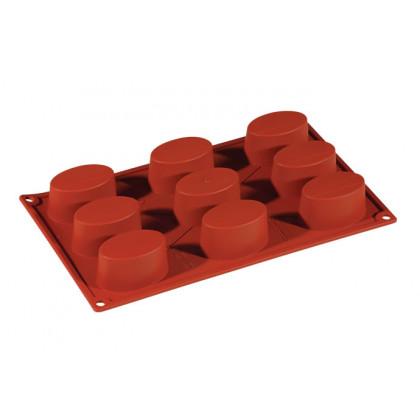 Molde de silicona FR041 Ovale 65x41h34mm (9 porciones) Formaflex Multiportion, Pavoni