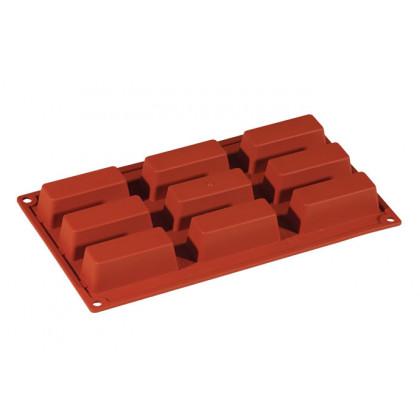 Molde de silicona FR028 Cake 80x30h30mm (9 porciones) Formaflex Multiportion, Pavoni