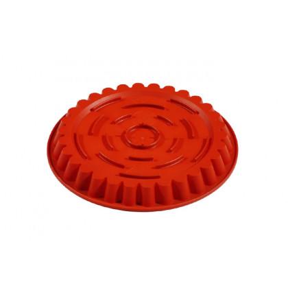Molde de silicona FRT054 Redondo Estriado con fondo rialzato (Ø260h30mm) Formaflex Cake, Pavoni